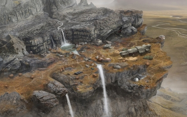 """Black Falls"" Background Illustration - ""Map"""