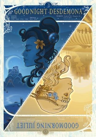 """Goodnight Desdemona, Goodmorning Juliet"" Poster Design"