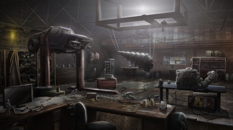 """Black Falls"" Background Illustration - ""Workshop"""