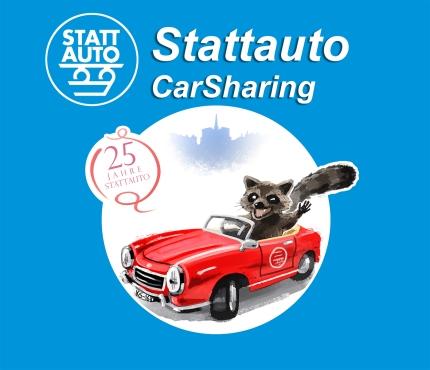 """Stattauto CarSharing"" 25th-Anniversary Logo Desgin"